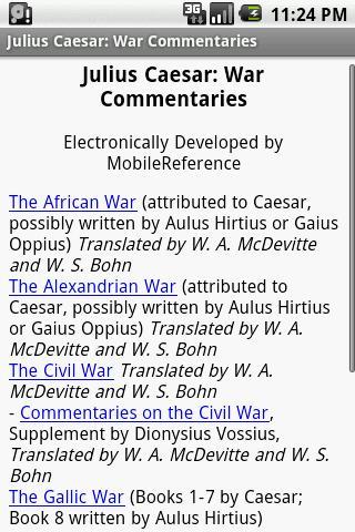 玩書籍App|Julius Caesar:War Commentaries免費|APP試玩