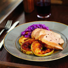 Glazed Pork Tenderloin with Sugared Apples