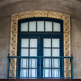 Balcony to nowhere by Darin Mellor - Buildings & Architecture Other Exteriors ( san diego, senior citizens, california, museum of man, lawn golfing, balboa park )