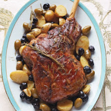 Braised Leg of Lamb with Potatoes and Olives