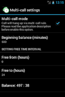 Screenshot of Call-Timer