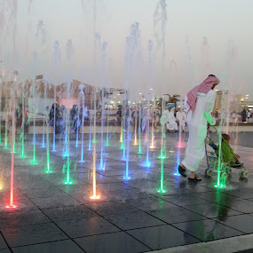by Sumi Ahmed - City,  Street & Park  Fountains ( samsung galaxy s5, dubai, fatherhood, parenting done right, uae, beautiful, global village, global village 2015 )