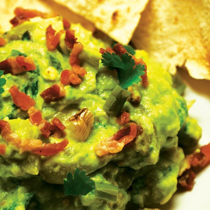 Guacamole with Bacon, Grilled Ramps (or Green Onions) and Roasted ...