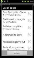 Screenshot of Kindle Widget