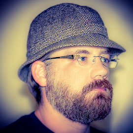 Selfie #1 by George Brandon - People Portraits of Men ( hats, david hill effect, self portrait, men, portrait )