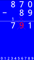Screenshot of Arithmetic Tutor - Subtraction