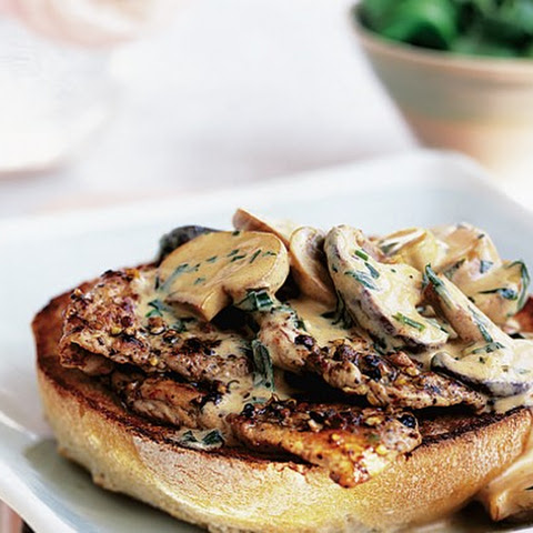Peppered Pork Steaks With Stroganoff Sauce