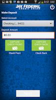 Screenshot of JAXFCU Mobile Check Deposit