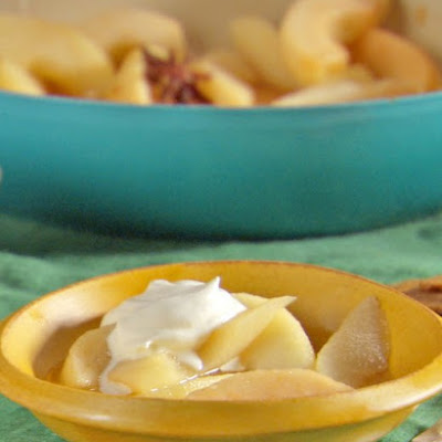 Buttery Poached Pears with Whipped Mascarpone