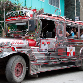 Philipines by Jose Baptista - Transportation Automobiles ( taxi, jeep, jeepney, philippines,  )