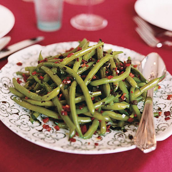 Green Beans with Sage and Pancetta