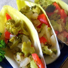 Broccoli-Endive Boats