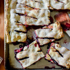 Mixed Berry Slab Pie with Chocolate