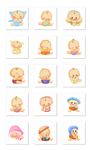 Cute Baby Stickers-Facebook - screenshot