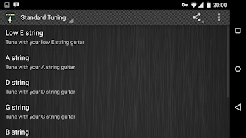 Screenshot of Simple Guitar Tuner