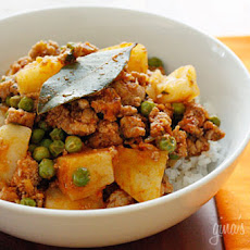 Ground Turkey with Potatoes and Spring Peas