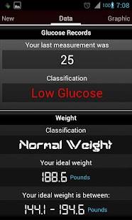 Register Glucose free - screenshot