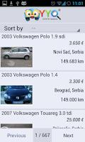 Screenshot of Used Cars