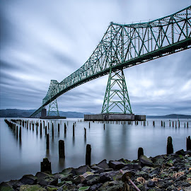 Astoria by Greg Hochstein - Buildings & Architecture Bridges & Suspended Structures ( oregon coast, beach, bridge, astoria )