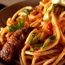 Bucatini Marinara with Sausage