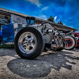 All Lined Up! by RomanDA Photography - Transportation Automobiles ( rod, lined, cars, street, wheels, tires, classic )