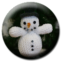 Christmas Crochet Snowman icon