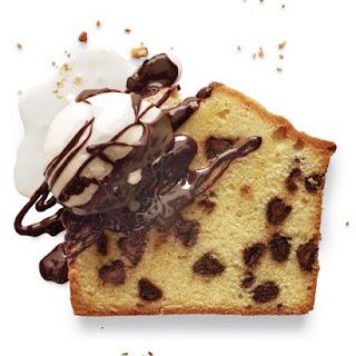 Chocolate Chip Pound Cake with Chocolate-Coffee Liqueur Sauce