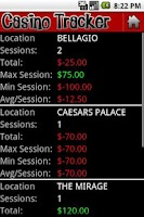 Screenshot of Casino Tracker