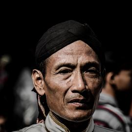 Man With Blangkon by Krisdian Isnu Wardana - People Portraits of Men ( people, portrait, man )