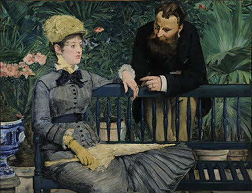 In the Conservatory, Edouard Manet