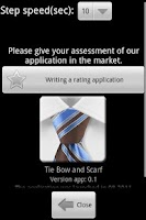Screenshot of To tie a tie a bow and a scarf