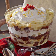 Gingerbread Trifle with Poached Pears and Spiced Cream