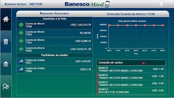 Screenshot of BanescoMóvil Panamá Tablet