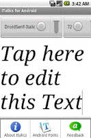 Screenshot of iTalics: Type Android Fonts HD