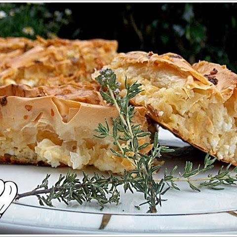 PLEATED CHEESE PIE WITH KASSERI, SIMPLY DIVINE!!!