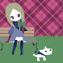 Girl and Dog icon