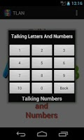Screenshot of Talking Letters And Numbers