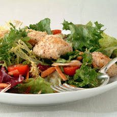 Mixed Salad with Hoisin Vinaigrette and Crisp Panko Chicken