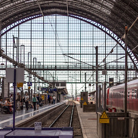 Francfort Train Station by Laurent Adien - Transportation Trains