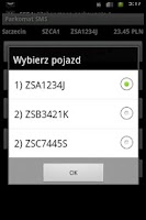 Screenshot of Parkomat SMS