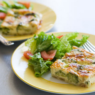 Crustless Broccoli and Onion Quiche