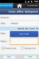 Screenshot of Expense Tracker-Money Manager