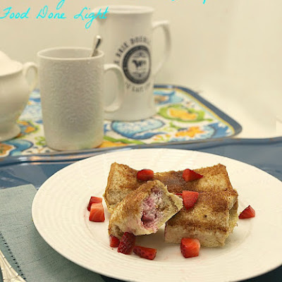 Strawberry French Toast Roll Up Casserole