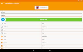 Screenshot of VocabularyBox - Trainer