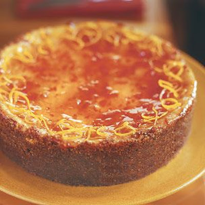 Ricotta Cheesecake with Blood Orange Marmalade Glaze