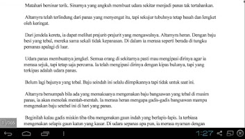 Screenshot of Novel Anugrah Bidadari