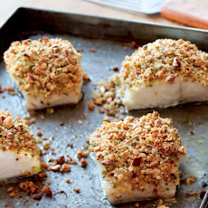 Baked Fish with Almonds, Lemon and Bread Crumbs Recipe
