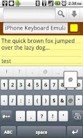 Screenshot of iPhone Keyboard Emulator FREE