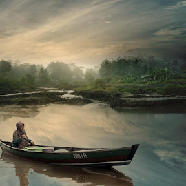 lonely boat by Budi Cc-line - Digital Art People