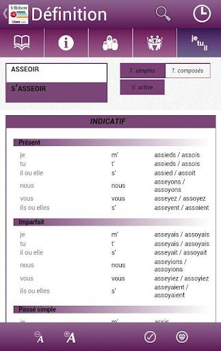 Dictionnaire Le Robert Mobile - screenshot